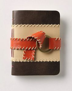 modern desk accessories by Anthropologie - I love this journal! Leather Notebook, Leather Journal, Contemporary Desk Accessories, Cool Journals, Anthropologie Uk, Recipe Organization, Stitching Leather, Uk Fashion, Bookbinding