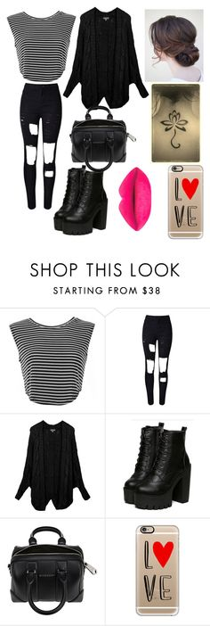 """Untitled #15"" by nutellaoreochocolate ❤ liked on Polyvore featuring LE3NO, Givenchy, Casetify, women's clothing, women, female, woman, misses and juniors"
