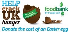 """""""If you can spare the cost of an Easter egg to help some of the UK's most vulnerable kids and families please donate by: Texting EGGS13 (then the amount, ie: £ 5) to 70070 or Donate online at www.trusselltrust.org/appeals"""""""