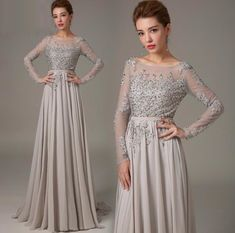 The long sleeve prom dress are fully lined, 4 bones in the bodice, chest pad in the bust, lace up back or zipper back are all available, total 126 colors are available. This dress could be custom made, there are no extra cost to do custom size and color. Description of long sleeve prom dress ...
