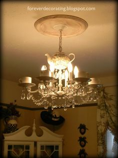 Tea Cup Chandelier, for those espresso enthusiasts