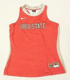 New Nike Ohio State Track Field Running Jersey Singlet Top Women's Md Red NCAA
