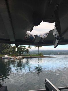 """Bomba de lava"" do Kilauea atinge barco e faz 23 feridos"