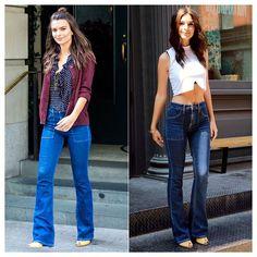Эмили Ратаковски (Emily Ratajkowski), похоже, очень понравились эти джинсы клеш американского бренда Joe's. Еще одно подтверждение популярности этого тренда.  Подобрать себе модные джинсы клеш известных американских брендов вы сможете в JiST.