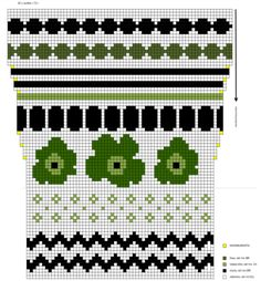 Fair Isle Knitting Patterns, Knitting Charts, Knitting Socks, Free Knitting, Crochet Chart, Tapestry Crochet, Marimekko, Loom Beading, Embroidery