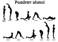 Namaste: Súrja namaskár (Pozdrav slunci) Pilates, Yoga Fitness, Health Fitness, Hand Reflexology, Dance Tips, Learn Yoga, Gross Motor Skills, Yoga Routine, Yoga For Beginners