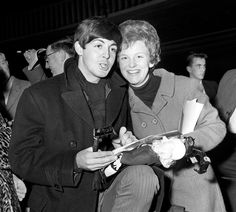 1963. Paul and Audrey Gowar, the seventeen-year-old secretary of the Irish Beatles Fan Club