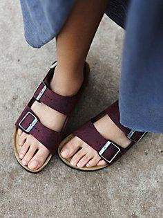 Milano Birkenstock Zinfandel oiled leather