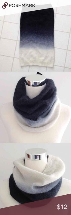 Ombré Wool Infinity Scarf Like new condition; worn a few times. No flaws. Super cute and versatile scarf from H&M. Ranges from dark charcoal to navy, blue, and then cream. Perfect for fall!   One size  Open to reasonable offers; Bundle for a discount. (Cheaper with Ⓜ) H&M Accessories Scarves & Wraps