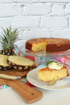 Pineapple coconut and lime upside down cake