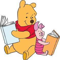 Winnie the Pooh and his best friend Piglet is having reading under the Sun! How are you going to spend your Summer Vacation this Year? Winnie the Pooh and Piglet hope by reading good books!