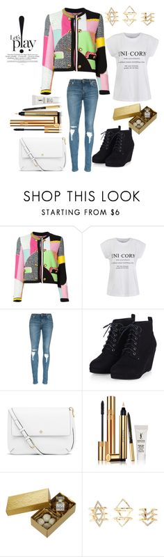 """Untitled #34"" by noa-antebi-pinto on Polyvore featuring Moschino, Ally Fashion, Tory Burch, Yves Saint Laurent and Charlotte Russe"