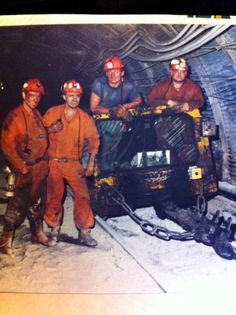 Coal Miners at work_Bill McLean(blue shirt) and co-workers_Glace Bay_Cape Breton | Photographs And Memories of Cape Breton_Cape Breton Nova Scotia
