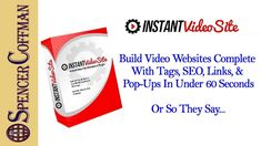 Instant Video Site Review WordPress Plugin Embed YouTube Videos - Spence...