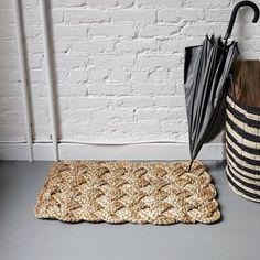 braided jute knot doormat from west elm