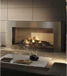 Dru Cosmo balanced flue gas fire, live on display at The Fireplace Superstore.