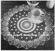Pineapple Sheer English pattern for doily free vintage crochet doilies patterns