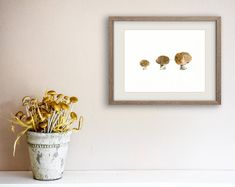 kitchen art mushrooms Print musrhoom watercolor by TheJoyofColor