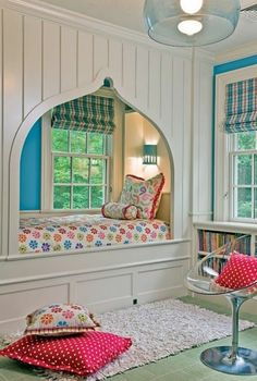 Admirable Reading Nook Decorating Ideas In A Teen Bedroom - Page 15 of 28 Bedroom Colors, Bedroom Decor, Bedroom Ideas, Tiffany Blue Bedroom, Childrens Room Decor, Bedroom Layouts, Design Your Home, Dream Rooms, House Rooms