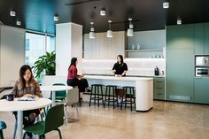 Design to change office culture: Gray Puksand's NCR HQ Office Interior Design, Office Interiors, Pantry Design, Kitchen Design, Office Canteen, Sydney, Breakout Area, Cool Office, Small Office