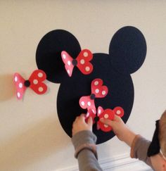 Pin the bow on Minnie Mouse! #BirthdayExpress #MinnieMouseParty