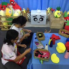 Our titas busy customizing plushies at an event! Plushies, Workshop, Toys, How To Make, Design, Activity Toys, Atelier, Stuffed Animals, Work Shop Garage