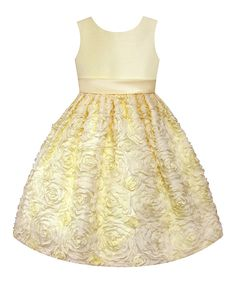 Look what I found on #zulily! Yellow Floral Dress - Infant, Toddler & Girls by American Princess #zulilyfinds