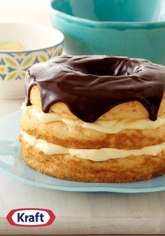 Easy Layered Boston Cream Pie – If you like Boston cream pies, you're going to really like this one—made with two layers of creamy filling!