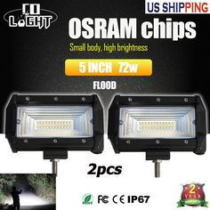 Two Rows of High Intensity OSRAM LED: 24 pcs Multi-Angle Reflection LEDS Multilayer Reflection Cup, Wider Vision: Superior lighting efficiency makes the light 40% brighter versus others with the same watts output which is unmatched in the market Better Heat Dissipation: Quick cooling aluminum alloy heat sinks and high-quality vent valve can effectively extend the lifespan of the light bar to over 50000 hours Adjustable Mounting Bracket: With adjustable mounting bracket, the work light can…