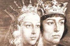 """Los Reyes Católicos de España, título que les otorgó el Papa a la reina Isabel de Castilla y al rey Fernando de Aragón, por su defensa de la religión católica al expulsar a los musulmánes del sur de España . La reina además impulsó en gran medida el viaje de Colón que dará lugar a lo que se ha llamado """"Descubrimiento"""" de América."""
