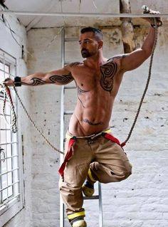 Rescue me! male, man, construction, awsome, nude, ink, tattoo, body art, working, muscles, masculin, swetty, beautiful, sensual, photo.