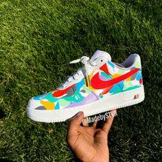 Shoe Painting, Nike Shoes, Sneakers Nike, Nike Af1, Painted Shoes, Shoe Closet, Bape, Custom Shoes, Shoe Game