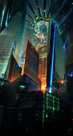 The best of Cyberpunk Music meets Anime Arte Cyberpunk, Cyberpunk City, Futuristic City, Cyberpunk 2077, Futuristic Architecture, Up Imagenes, Dreamland, City Sky, City In The Sky