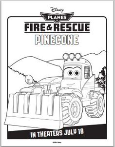 Planes: Fire and Rescue Coloring Pages - Pinecone #planes #disney #coloring