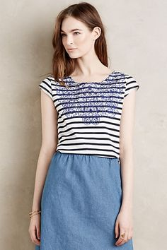 Lace Collar Top #anthropologie