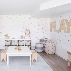 Playrooms are having a moment right now and I see this trend continuing throughout the year!!! I can't wait to share some of the special details in some of the new ones we're working on, but if you could include anything in your playroom, what would it be??! #playroom #kidsplayroom