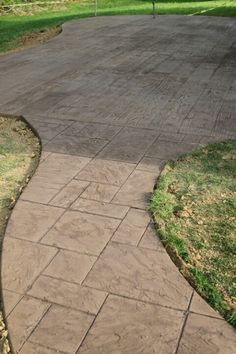Wood stamped concrete?