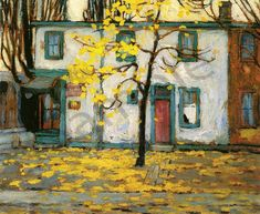 Lawren harris Toronto Street Houses Emily Carr, Canadian Painters, Canadian Artists, Abstract Landscape, Landscape Paintings, Group Of Seven Artists, Tom Thomson Paintings, Monuments, Illustration