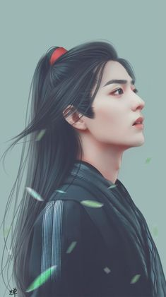 Xiao Zhan in drama The Untamed 2019 web series _fanart Fantasy Art Men, Susanoo, The Grandmaster, Handsome Boys, Pretty Boys, Pretty People, Anime Guys, Les Oeuvres, Actors & Actresses