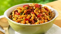 Whip up a delicious and easy-to-tote pasta salad. It'll take less than 30 minutes!