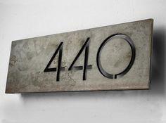 The Monroe House Numbers van boldmfg op Etsy