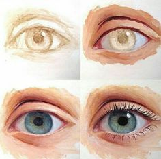 63 ideas for eye painting acrylic art lessons Portrait Acrylic, Portrait Art, Acrylic Art, Portrait Paintings, Paintings Of Eyes, Eyes Artwork, Realistic Paintings, Art Paintings, Realistic Eye Drawing