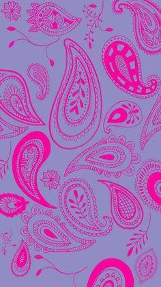 Imagem de wallpaper, background, and pattern Paisley Wallpaper, Pink Wallpaper, Colorful Wallpaper, Pattern Wallpaper, Wallpaper For Your Phone, Cellphone Wallpaper, Iphone Wallpaper, Cool Backgrounds, Wallpaper Backgrounds