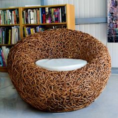 PIE Studio:  Curvy, Nature-Inspired Seating - Spaghetti Chair Brown, $1,440, now featured on Fab.