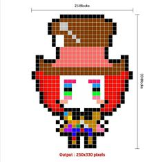 Pixel Art Grid, Fictional Characters