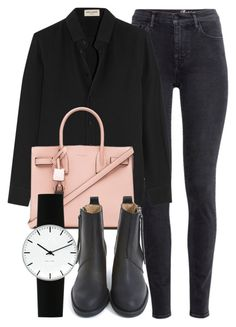 """Untitled #5097"" by laurenmboot ❤ liked on Polyvore featuring H&M, Yves Saint Laurent, Acne Studios, Rosendahl, women's clothing, women's fashion, women, female, woman and misses"