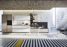 Minimalistische Küche für die moderne Wohnung