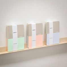 Carnet C  Set of 3 notebooks hand screen by AntoninPlusMargaux, €25.00