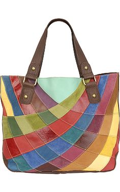 Pelle Studio Patchwork Leather Tote - Wilsons Leather