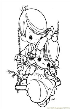 precious moments wedding | Coloring Pages Precious Moments 08 ...